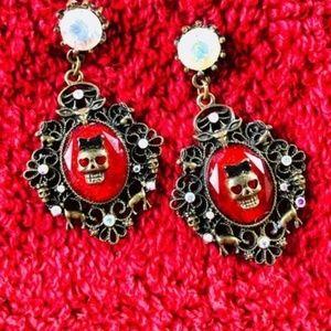 Betsey Johnson Dark Forest Dangle Earrings
